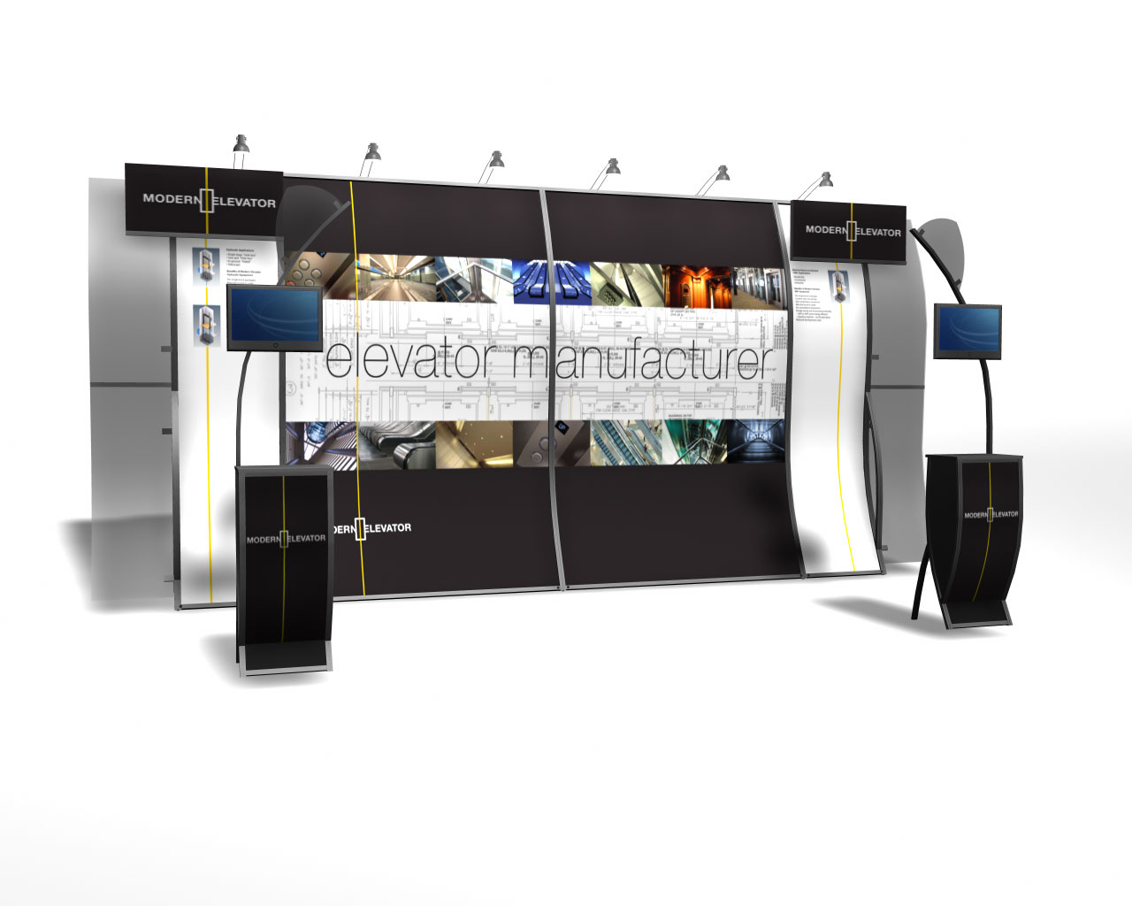 Modern Exhibition Stand : The pull up banner display exhibitions and trade